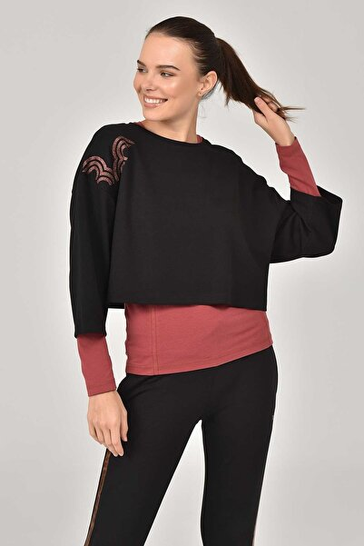 bilcee Siyah Kadın Sweatshirt FW-1334