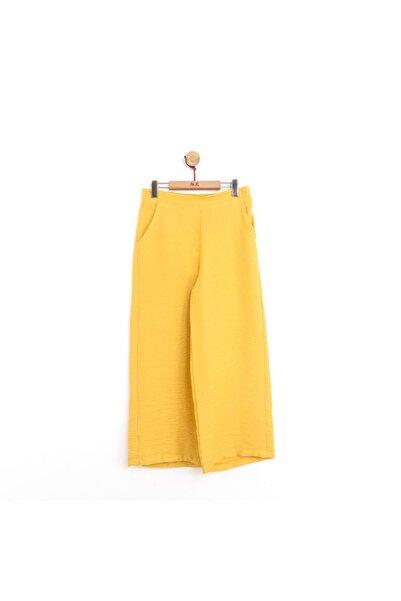NK Kız Çocuk Beli Lastikli Bol Paça Yazlık Pantolon