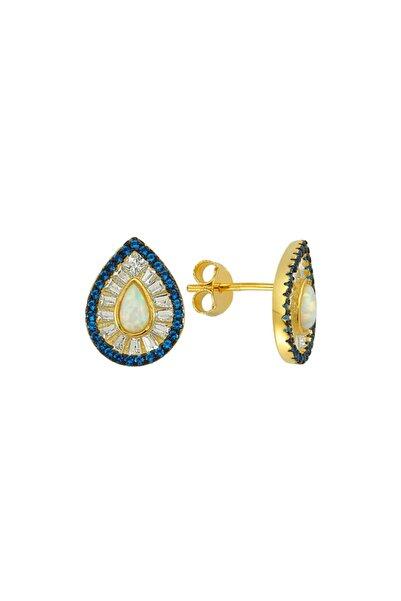 Luzdemia G. Opal Küpe 925 - 6 - Gold
