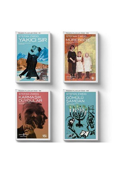 İş Bankası Kültür Yayınları Stefan Zweig Seti 4 Kitap - Yakıcı Sır - Gömülü Şamdan - Mürebbiye - Karmaşık Duygular