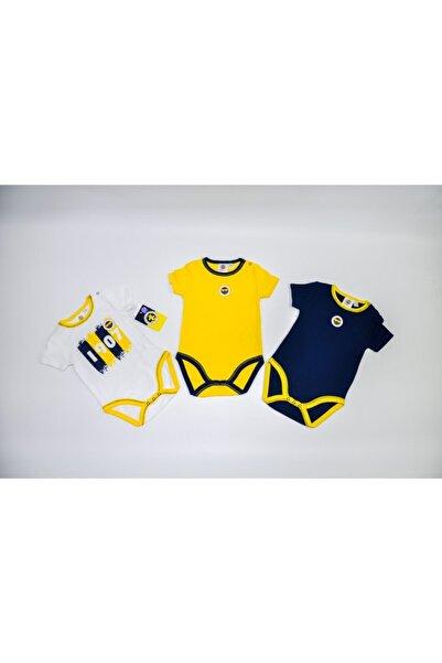 Fenerium Fenerbahçe Lisanslı Bebek 3 Lü Kısa Kollu Body 1-18 Ay