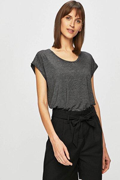 PIECES Kadın Siyah V Yaka T-Shirt 17074036 PCBILLO