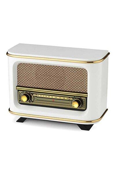 UTC Nostaljik Radyo Istanbul Beyaz + Adaptör + Pil