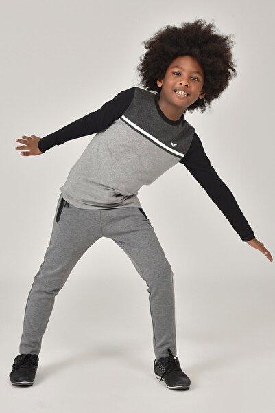 bilcee Gri Unisex  Uzun Kol Çocuk T-Shirt FW-1487