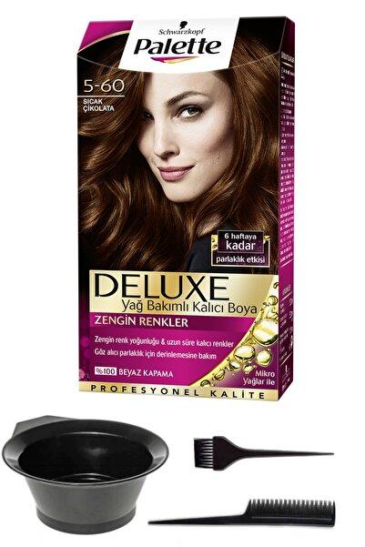 SCHWARZKOPF HAIR MASCARA Palette Deluxe 5-60 Sıcak Çikolata Saç Boyası Ve Saç Boyama Seti
