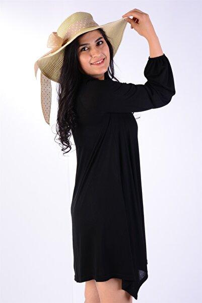 Kadın Kol Bilekleri Lastik Detaylı Likralı Mini Elbise
