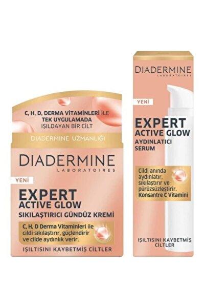 Diadermine Expert Active Glow Sıkılaştırıcı Gündüz Kremi + Aydınlatıcı Serum