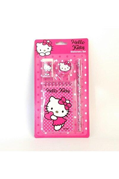 Hello Kitty Lisanslı Kırtasiye Seti Not Defteri Kalem Silgi Kalemtraş