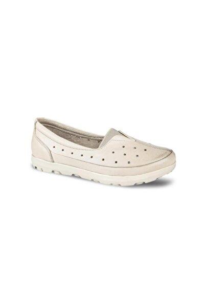 Ceyo Hakiki Deri Bej Kadın Ayakkabı 01121