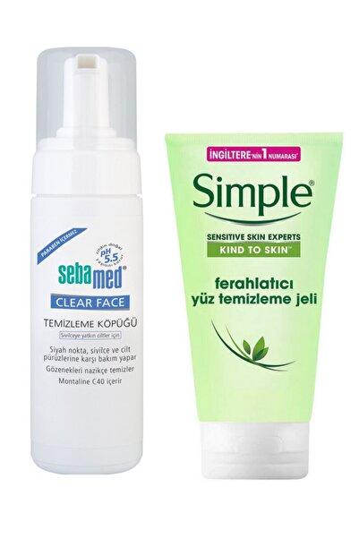 Sebamed Clear Face Temizleme Köpüğü 150 ml Ve Simple Ferahlatıcı Yüz Temizleme Jeli 150 ml