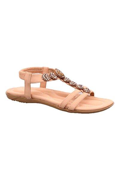 Guja Pembe Ortopedik Kadın Swarovski Taşlı Sandalet 250-2