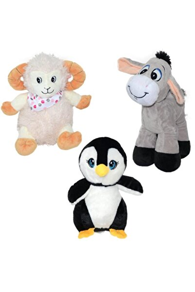 Selay Oyuncak 1012 Karma Peluş Eşek-kuzu-penguen-panda 28cm