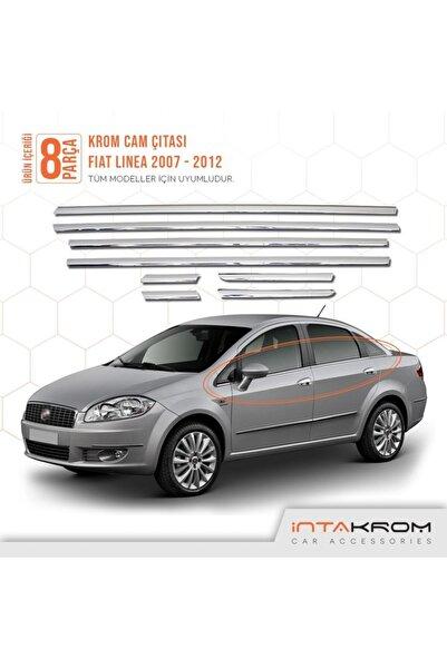 İntachrom Fiat Linea Krom Cam Çıtası 8 Parça 2007-2012
