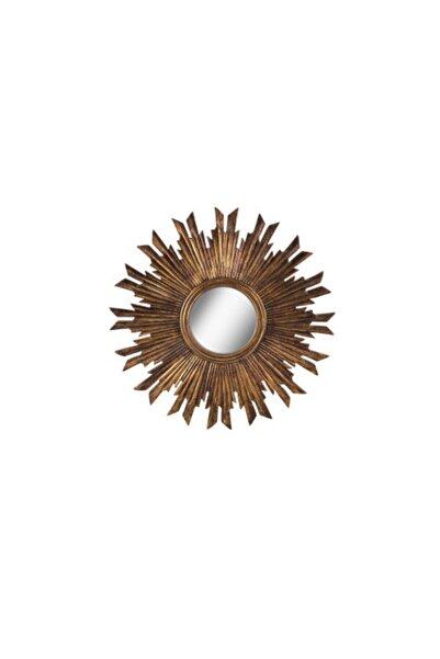 Warm Design Antik Altın Ayna