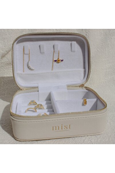 Mist Jewels Unisex Krem Seyahat Takı Çantası