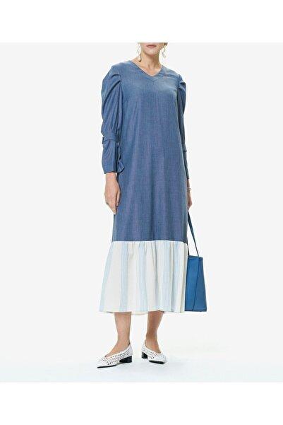 Aker Kadın Indigo Uzun Elbise T41449009