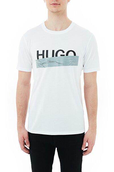 Hugo Boss Erkek Regular Fit Baskılı Bisiklet Yaka T Shirt 50436413 100