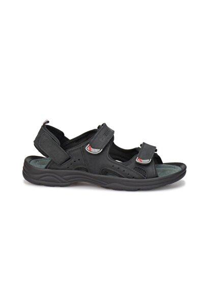Kinetix Erkek Siyah Parga Confort  Sandaleti