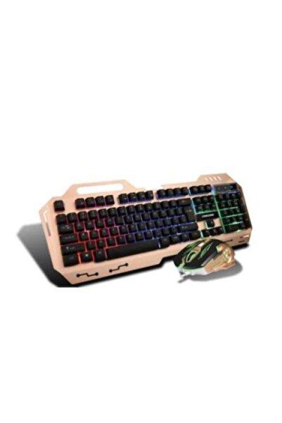 ENPAK Led Gaming Kablolu Q Klavye Mouse Set