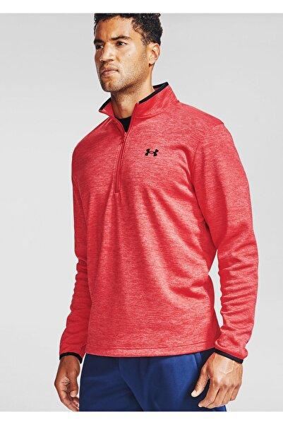 Under Armour Erkek Spor Sweatshirt - Ua Armour Fleece 1/2 Zip - 1357145-600