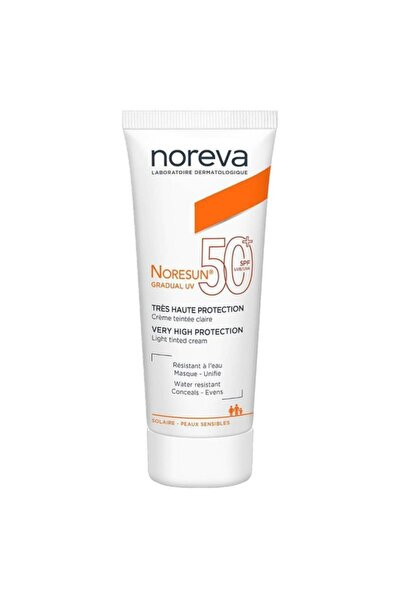 Noreva Noresun Gradual Uv Very High Protection Light Tinted Cream Spf50+ 40 Ml