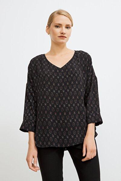 Love My Body Kadın Siyah V Yakalı Bluz