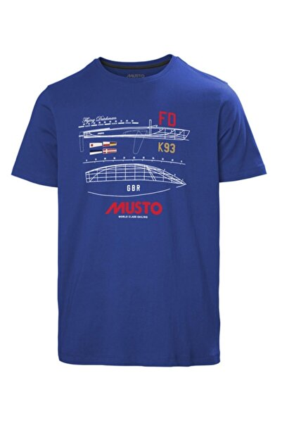 Musto Erkek Mavi Flyıng Dutchman Tee T-shirt