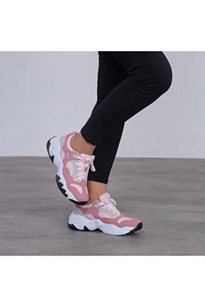 lumberjack Kadın Pudra Bağcıklı Sneaker 100497259