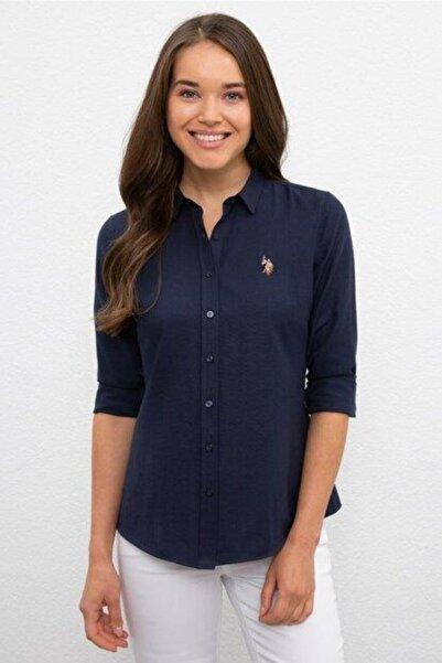 U.S. Polo Assn. Kadın Mavi Dokuma Gomlek 990708