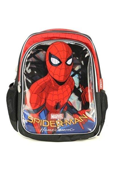 Hakan Çanta UnisexKırmızı Siyah İşlemeli Spiderman Okul Sırt Çantası Renk 89348