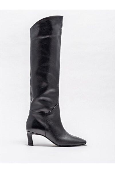 Elle Shoes Kadın Siyah Çizme