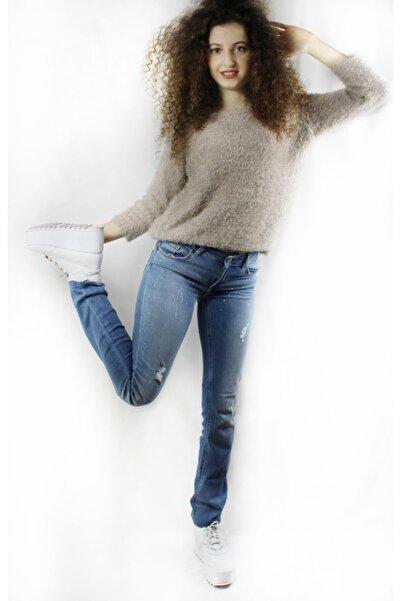 Liu Jo Kadın Mavi Boru Paça Jean