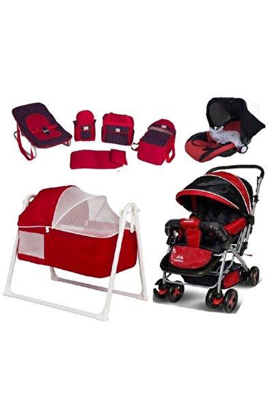 Aisa 8 Parça Sepet Beşik Çift Yönlü Bebek Arabası Bebek Taşıma Puset Kanguru Anadizi Portbebe Seti