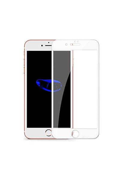 aksesuar sepetim Apple Iphone 7 Beyaz Kırılmaz Cam Iphone 7 Tempered Glass Ekran Koruyucu