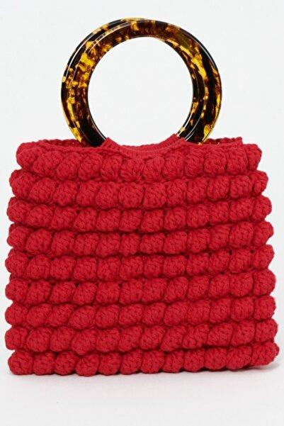 Sofistikate Kadın Kırmızı El Çantası