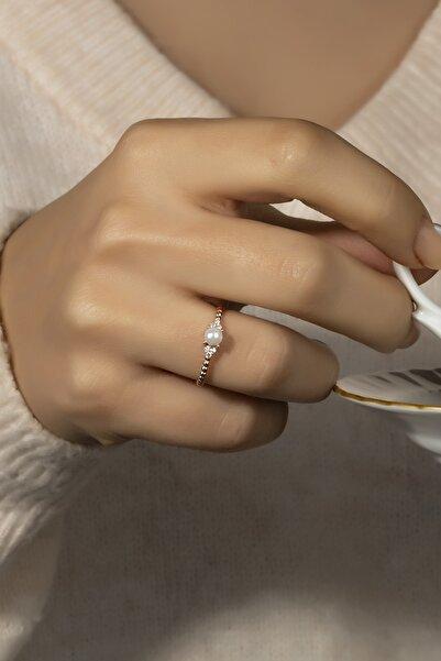 Else Silver Kadın Gümüş Incili Yüzük 925 Ayar