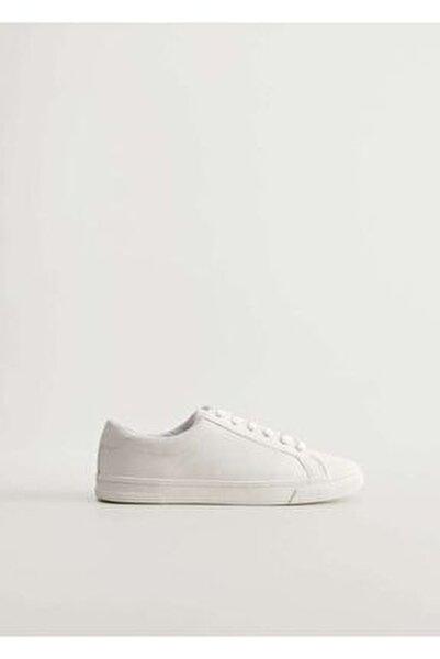 Kadın Beyaz Bağcıklı Basic Spor Ayakkabı 77090550