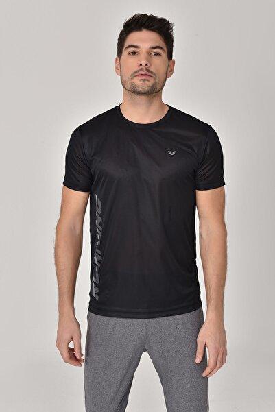 bilcee Erkek Siyah T-shirt Gs-8804