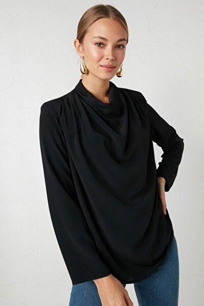 LC Waikiki Kadın Yeni Siyah Bluz 0WHK58Z8