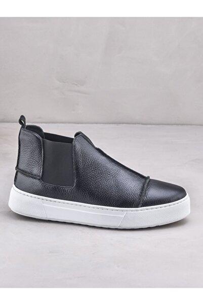 Elle Shoes CARIMA Hakiki Deri Siyah Erkek Bot