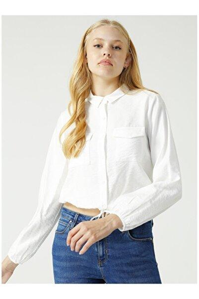 AEROPOSTALE Kadın Beyaz Gömlek