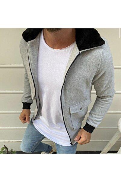 Zoom Erkek Gri Oduncu Model Ceket