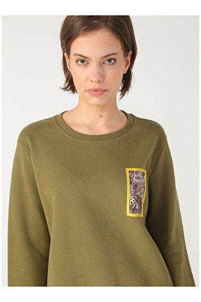 NATIONAL GEOGRAPHIC Kadın Haki Sweatshirt