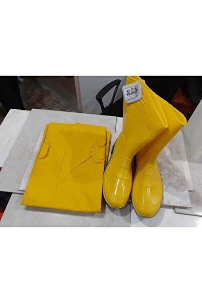 GEZER Unisex Sarı Yağmur Çizmesi