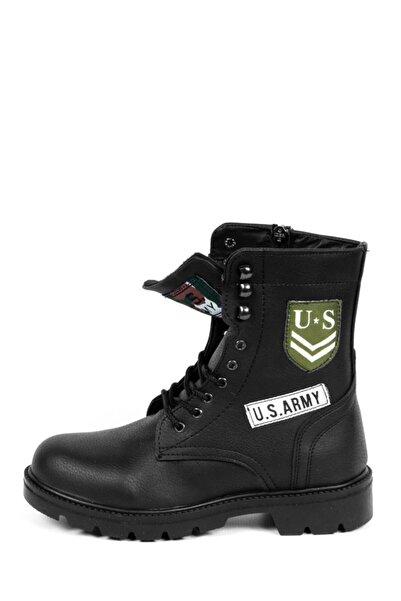 CONTEYNER Modern Askeri Postal Tasarım Bot / Siyah