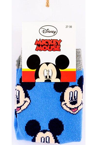 Mickey Mouse Mıckey Mouse Mavi Soket Çorap