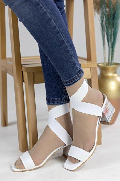 Oioi Kadın Beyaz Topuklu Ayakkabı 1003-119-0003_1003