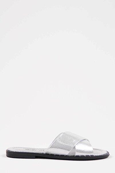 Oioi Gümüş Kadın Terlik 1002-122-0002_1011