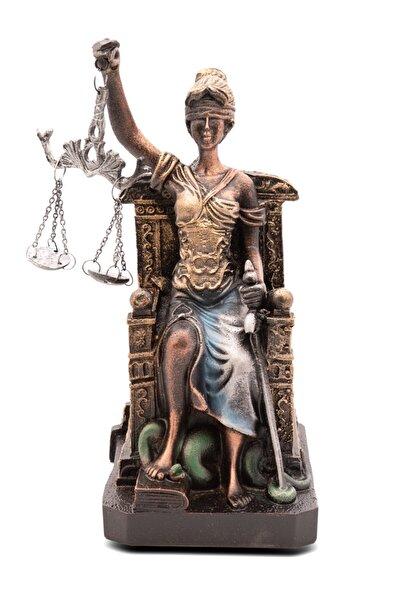Gift Garden Oturan Adalet Heykeli Themıs Adalet Terazisi