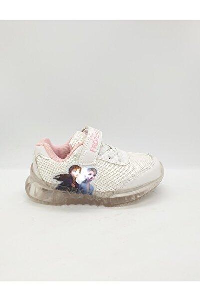 Disney Frozen Kız Çocuk Beyaz Işıklı Ayakkabı